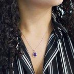 Arizona Amethyst™ Gold Jewelry Trillion Swirl Pendant