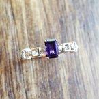 Arizona Amethyst™ Silver Jewelry Geometric Step Cut Ring