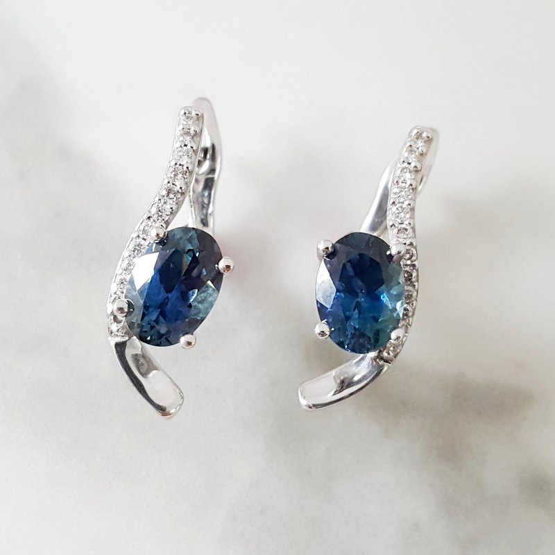 American Gem Collection™ Montana Sapphire Earrings