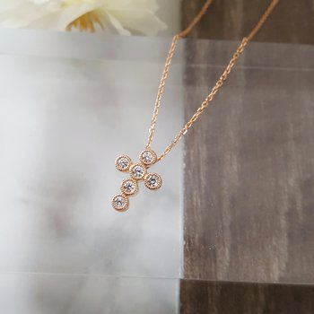 Bezel Cross Necklace