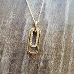 Sami Fine Jewelry Double Rectangle Geometric Pendant