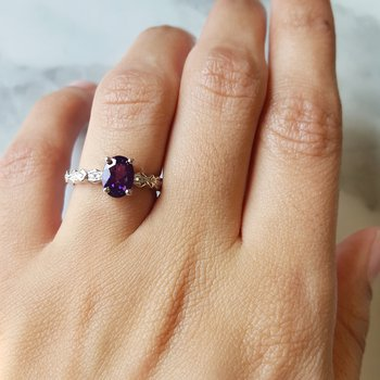 Geometric Band Accented Ring