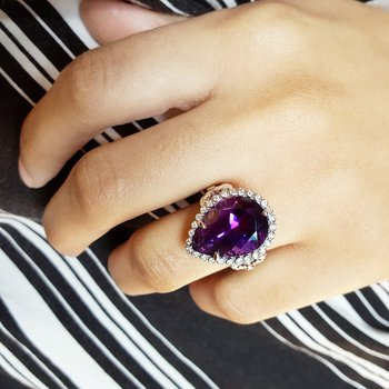Amethyst Adornment Ring
