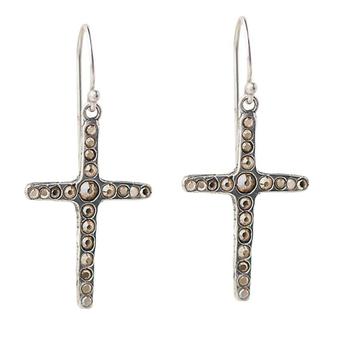 Amor Fati Single Cross Earrings