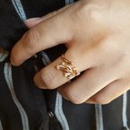 Sami Fine Jewelry Feather Open Ring