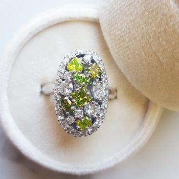 Diamond Cluster Statement Ring