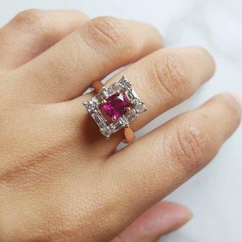 Ruby Frame Ring