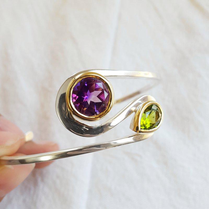 Arizona Amethyst™ Gold Jewelry Explorer Cuff Bracelet