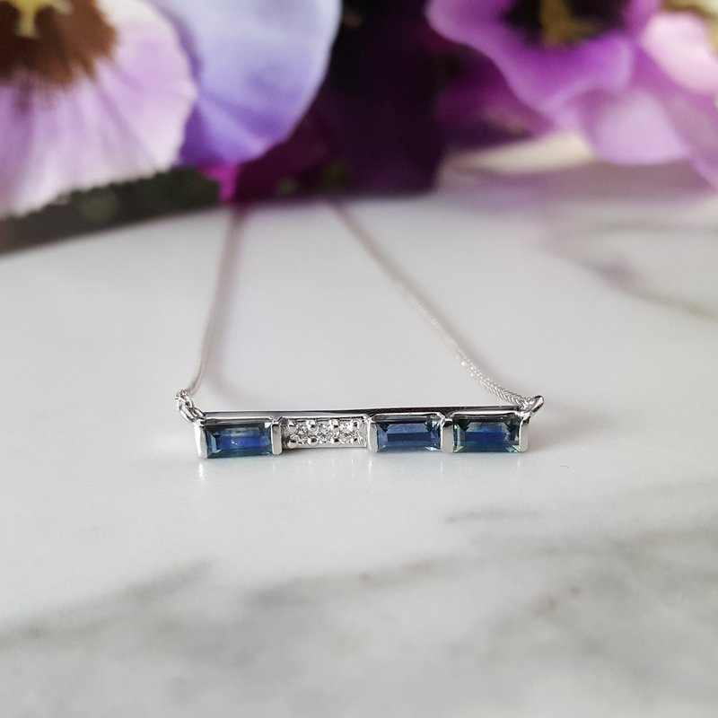 American Gem Collection™ Sapphire Bar Necklace