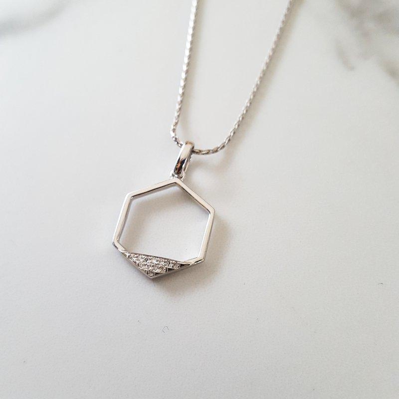 Sami Fine Jewelry Hexagon Necklace