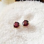 Arizona Anthill Garnet Gold Jewelry Garnet Martini Stud Earrings