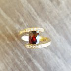 Arizona Anthill Garnet Gold Jewelry Arizona Garnet Checkerboard Cut Ring