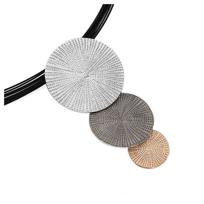 The Silver Collection Tri Color Drop Pendant