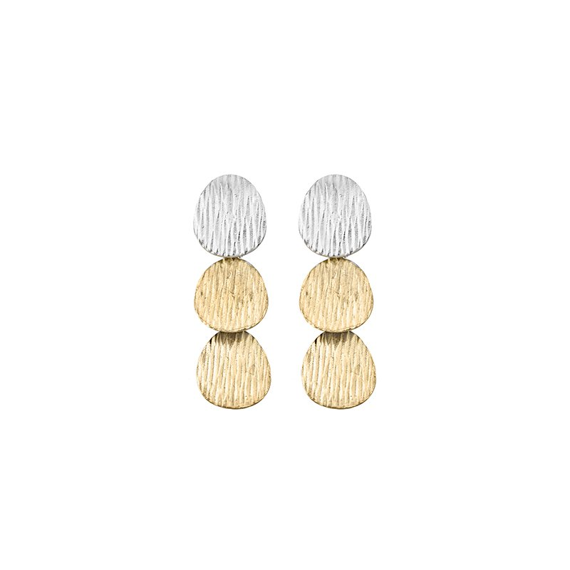 The Silver Collection Three Tier Earring