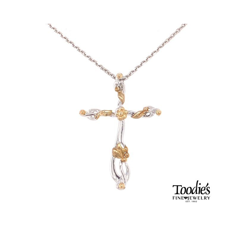 Penny James Jewelry Floral Design Anchor Cross Necklace