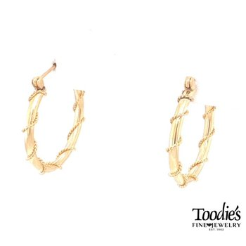 Rope Design Hoop Earrings