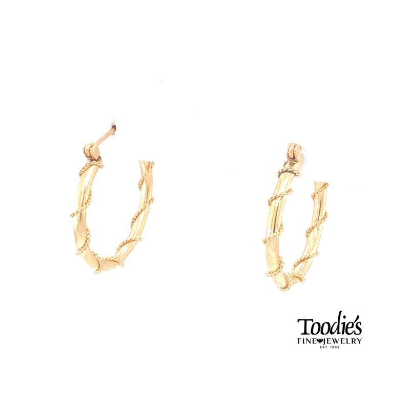 Toodie's Signature Fashion Rope Design Hoop Earrings