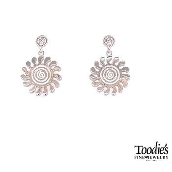 Sun Drop Design Earrings