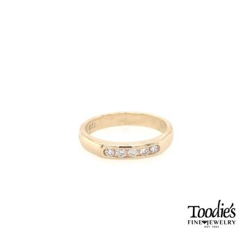 Five Stone Channel Set Diamond Ring