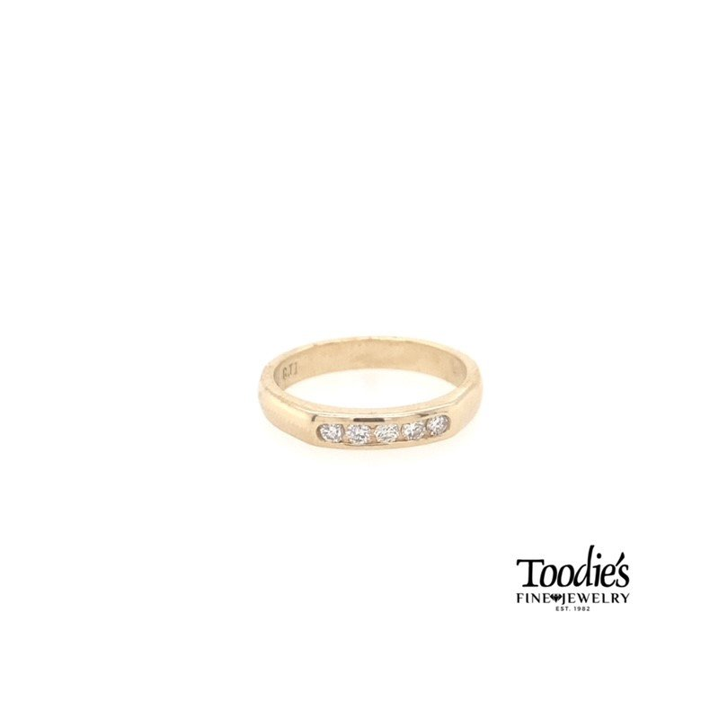 Toodie's Signature Fashion Five Stone Channel Set Diamond Ring