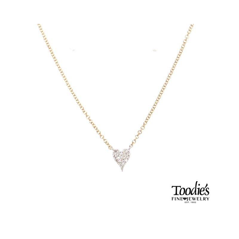 Shy Creation Pave Style Diamond Heart Pendant
