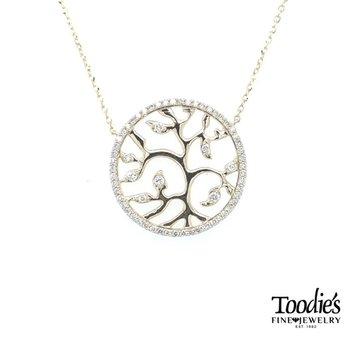 Diamond Tree of Life Medallion
