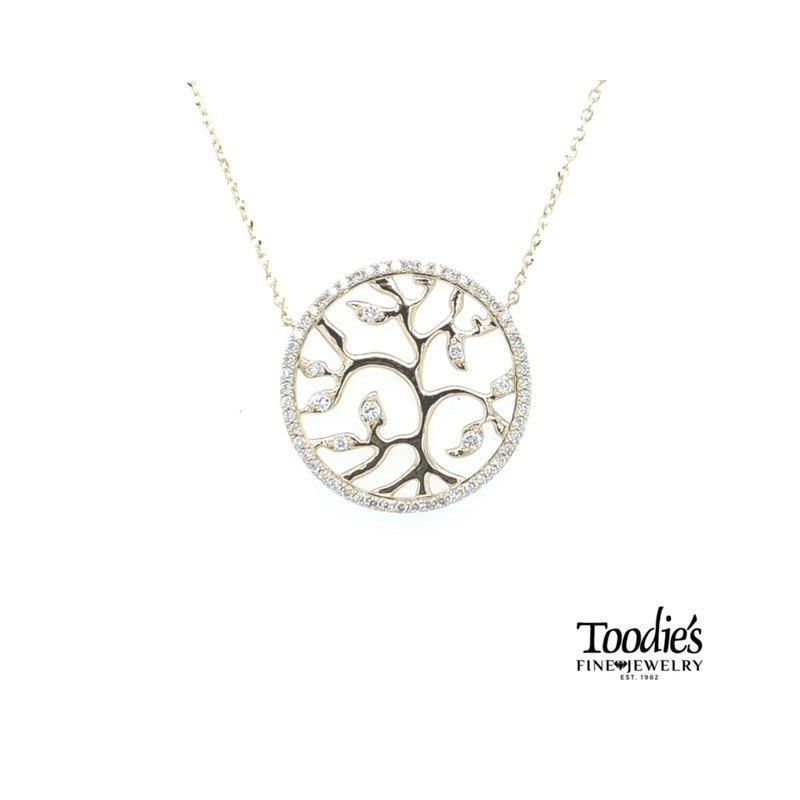 Toodie's Signature Fashion Diamond Tree of Life Medallion