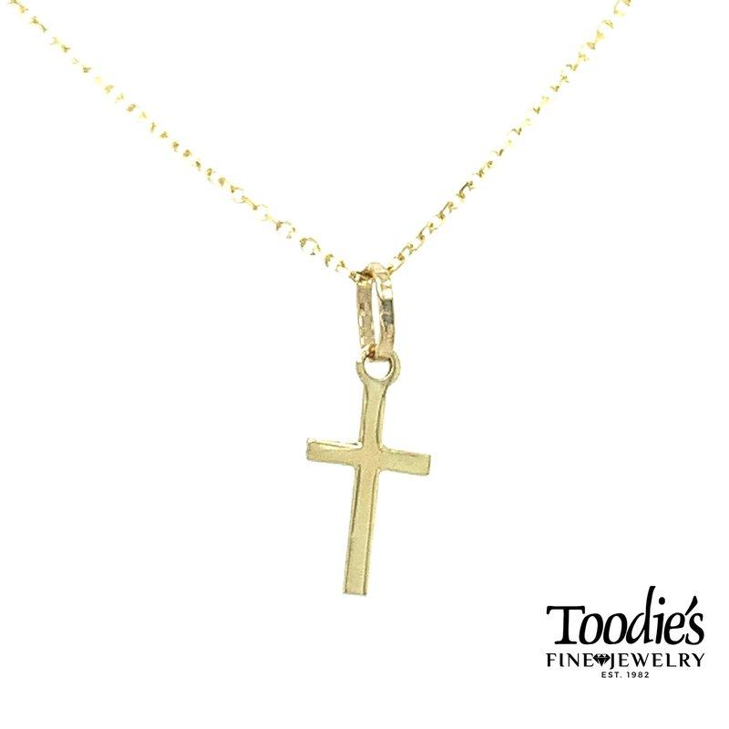 Toodie's Signature Fashion Mini Gold Cross and Chain