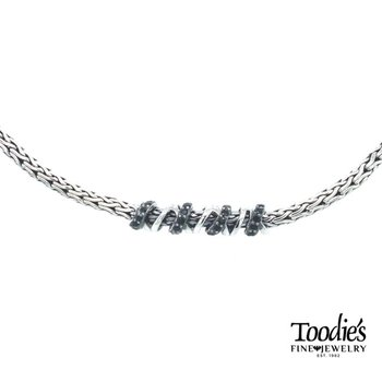 Black Sapphire Twisted Style Necklace