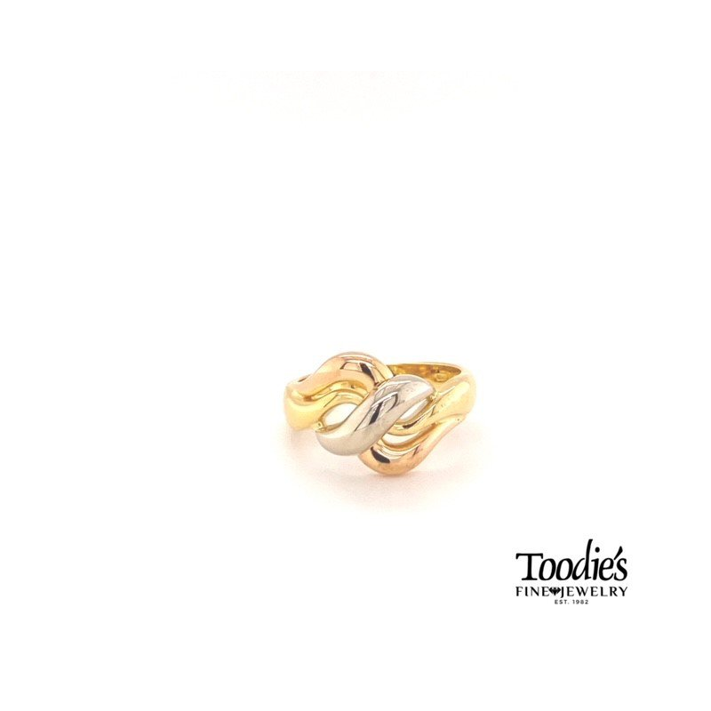 Toodie's Signature Fashion Tricolor Wave Ring