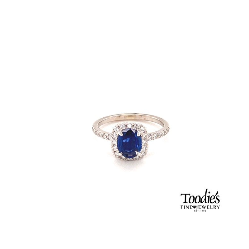 Toodie's Signature Fashion Cushion Sapphire & Diamond Halo Ring