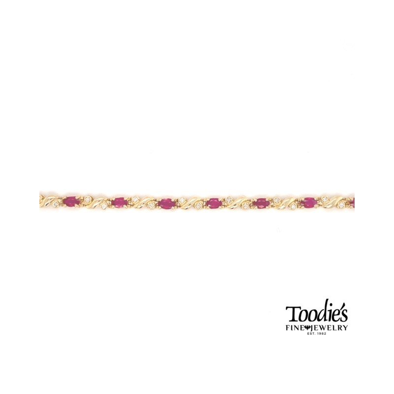 Toodie's Signature Fashion Ruby And Diamond Bracelet