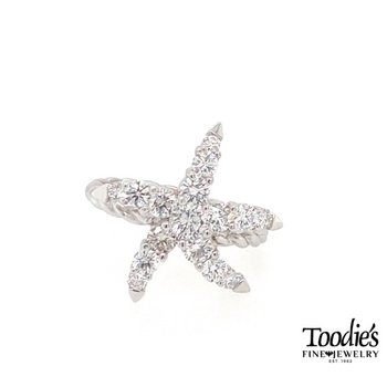 Toodies Signature Diamond Starfish Ring