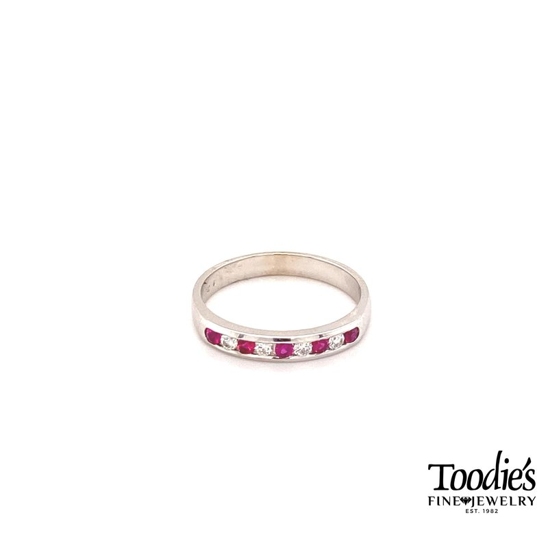 Toodie's Signature Fashion Ruby And Diamond Channel Set Ring