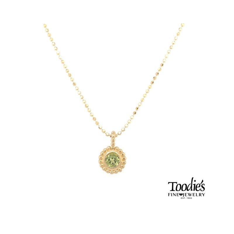 Phillip Gavriel Yellow Gold Peridot Necklace