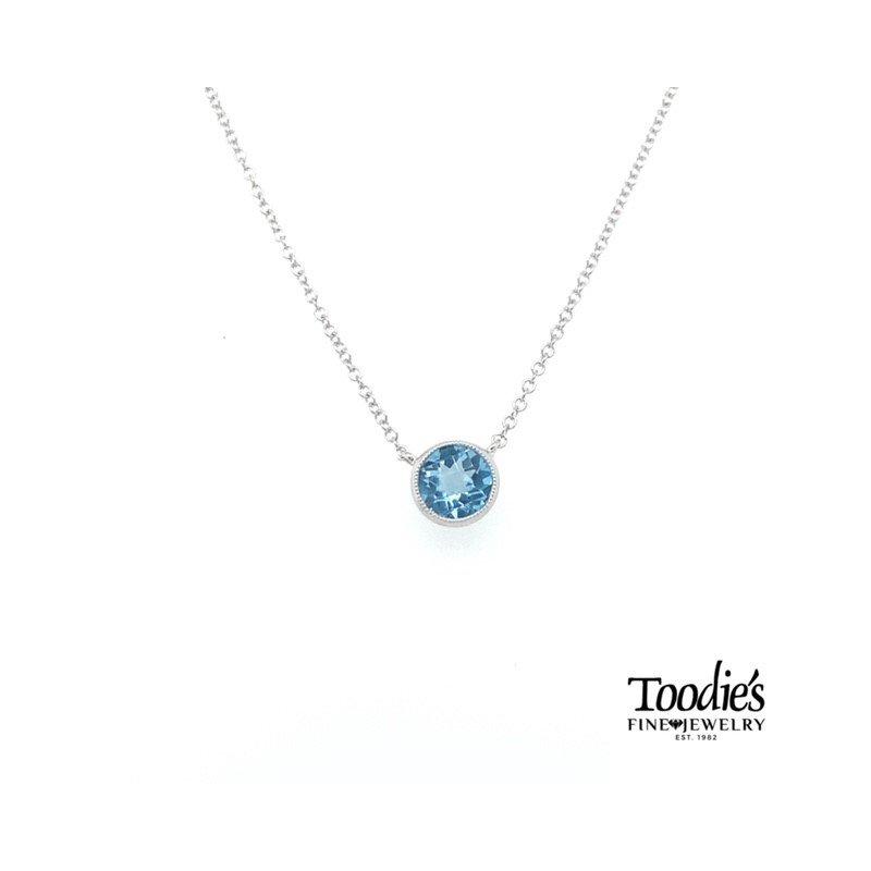 Toodie's Signature Fashion Blue Topaz Solitaire Pendant