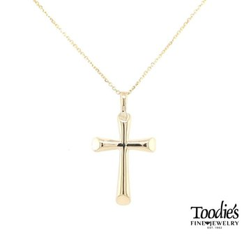 Large Flair Style Gold Cross