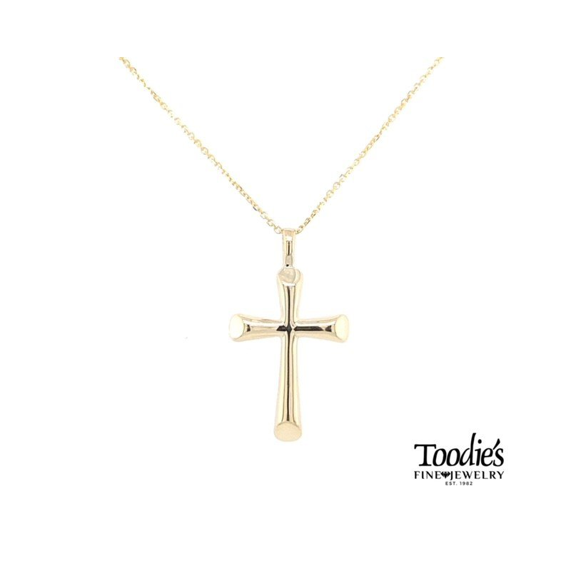 Toodie's Signature Fashion Large Flair Style Gold Cross