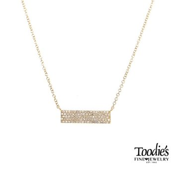 Multi-Row Diamond Bar Necklace