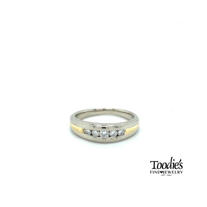 Toodie's Signature Fashion 18k Two Tone Gents Diamond Band