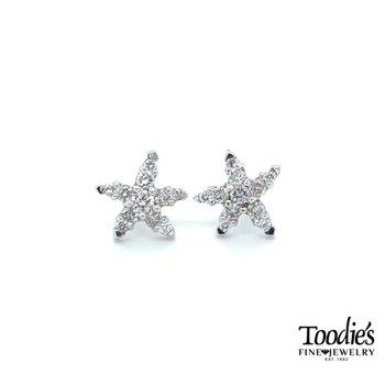 Diamond Starfish Studs