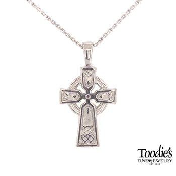 Medium Sized Celtic Cross Necklace