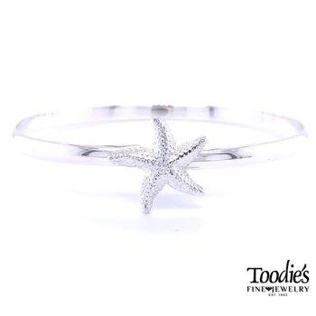 Starfish Bangle Bracelet
