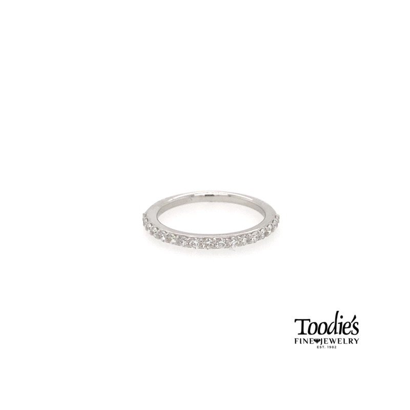 Toodie's Signature Fashion Platinum Shared Prong Style Straight Band