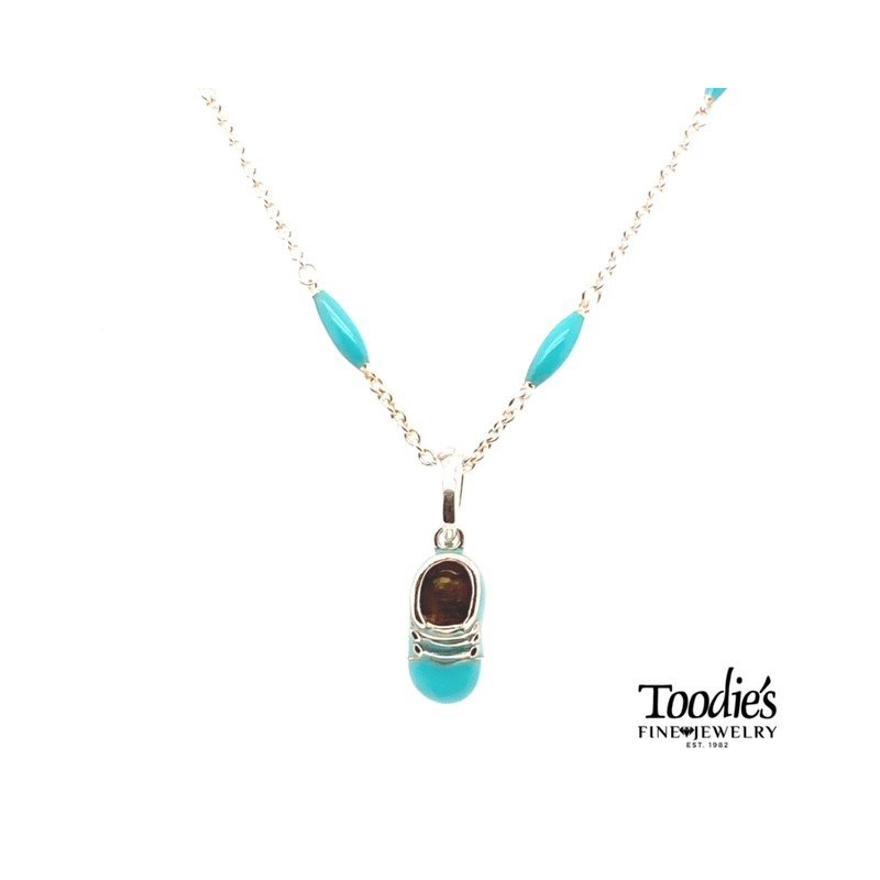 Toodie's Signature Fashion Enamel Baby Bootie Necklace