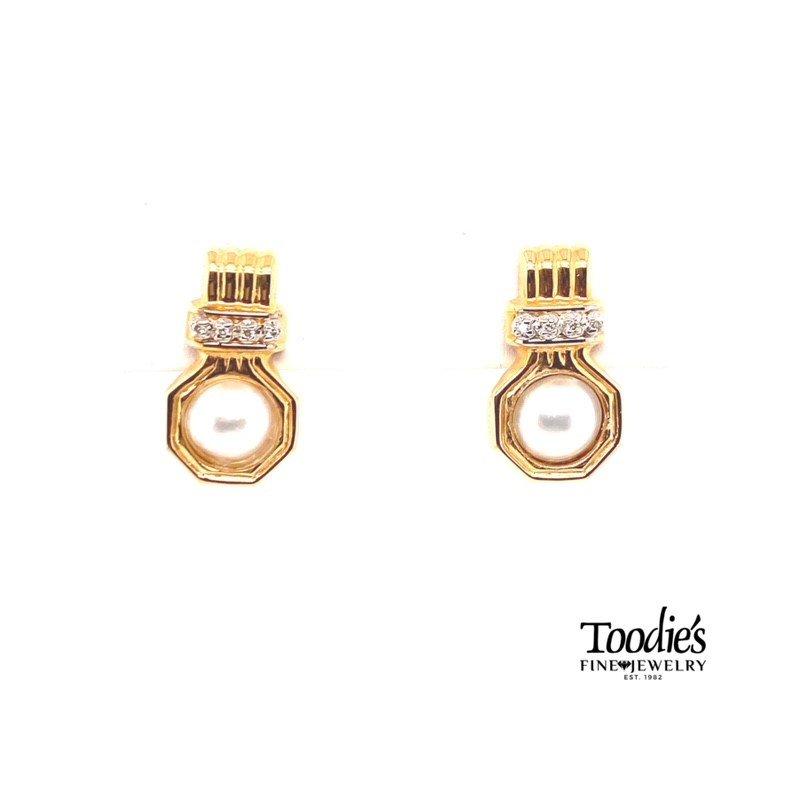 Toodie's Signature Fashion Mobe' Pearl And Diamond Earrings