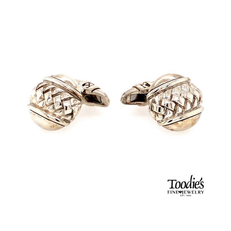 Toodie's Signature Fashion Silver Cufflinks