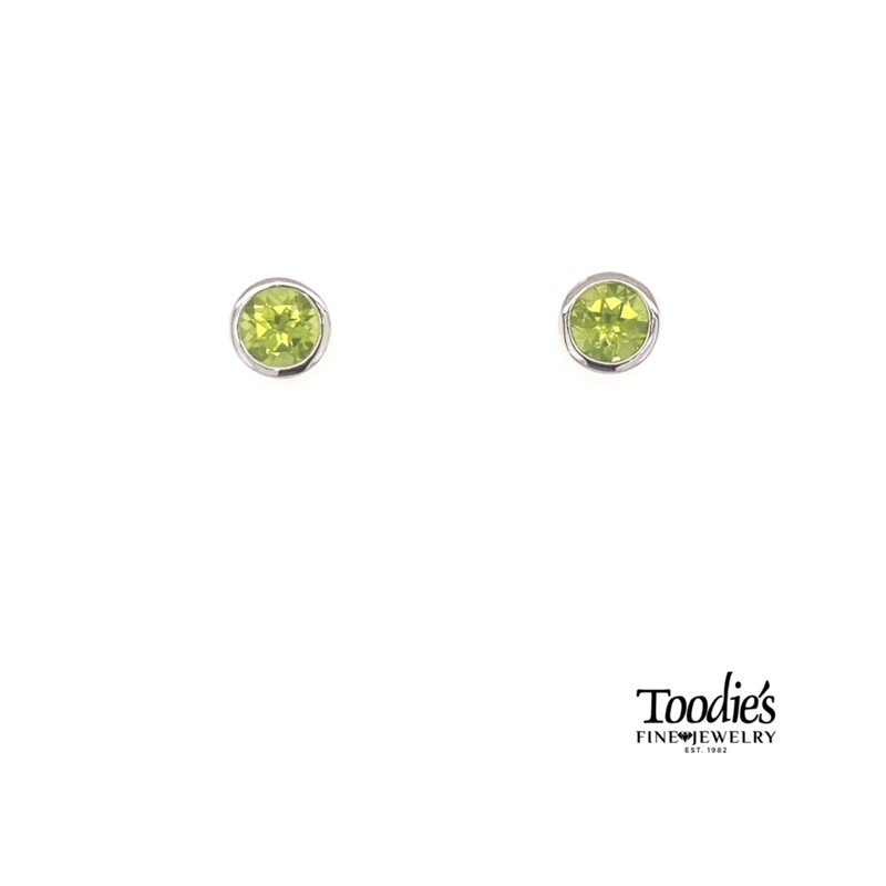 Gabriel Fashion Sterling Silver with Peridot Studded Earrings
