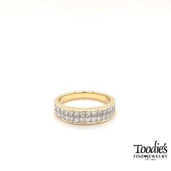 Diamond Invisible Set Princess Cut Ring
