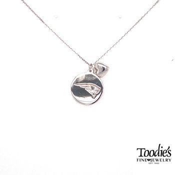 New England Patriots Disc Necklace